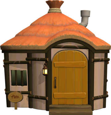Exterior of Deirdre's house in Animal Crossing: New Horizons