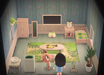 Interior of Melba's house in Animal Crossing: New Horizons