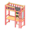 Loft Bed with Desk (Pink - Black) NH Icon.png