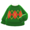 Argyle Sweater (Green) NH Icon.png