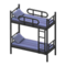 Bunk Bed (Black - Striped) NH Icon.png