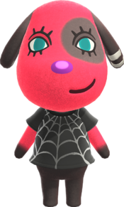 Cherry, an Animal Crossing villager.