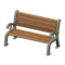 Garden Bench (Silver) NH Icon.png