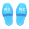 Restroom Slippers (Light Blue) NH Icon.png