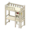Loft Bed with Desk (White - White) NH Icon.png