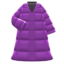 Long Down Coat (Purple) NH Icon.png