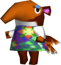 Nosegay, an Animal Crossing villager.