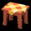 Wooden Mini Table (Cherry Wood - Orange)