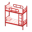 Bunk Bed (Red - Checkered)