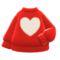 Heart Sweater (Red) NH Icon.png