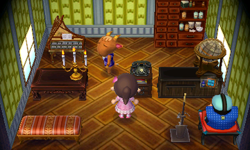 Interior of Billy's house in Animal Crossing: New Leaf