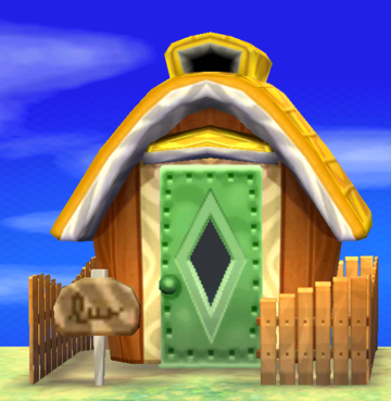 Exterior of Pudge's house in Animal Crossing: New Leaf