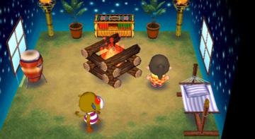 Interior of Simon's house in Animal Crossing: City Folk