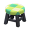 Wooden Stool (Black - Green) NH Icon.png