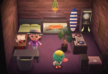 Interior of Quillson's house in Animal Crossing: New Horizons