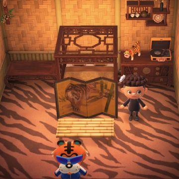 Interior of Rowan's house in Animal Crossing: New Horizons
