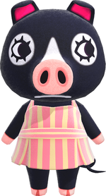 Agnes, an Animal Crossing villager.