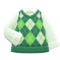 Argyle Vest (Green) NH Icon.png