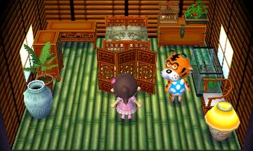 Interior of Rowan's house in Animal Crossing: New Leaf