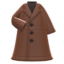 Long Pleather Coat (Brown) NH Icon.png