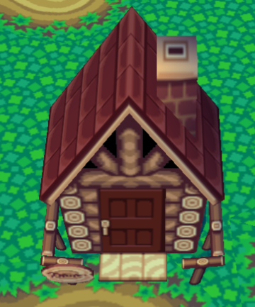 Exterior of Leigh's house in Animal Crossing