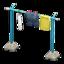 Clothesline Pole (Blue - Plain)