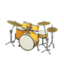 Drum Set (Golden Yellow - Smooth White)