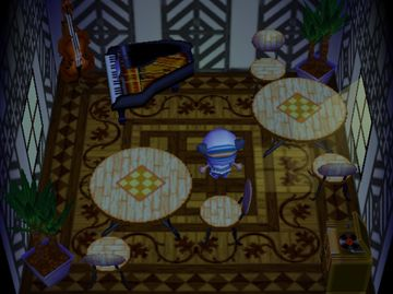 Interior of Huck's house in Animal Crossing