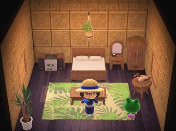 Interior of Jambette's house in Animal Crossing: New Horizons