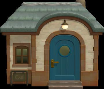 Exterior of Beardo's house in Animal Crossing: New Horizons