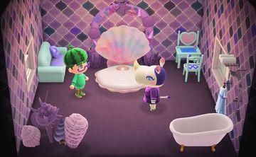 Interior of Rhonda's house in Animal Crossing: New Horizons
