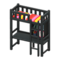 Loft Bed with Desk (Black - Red Stripes) NH Icon.png