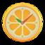 Orange Wall-Mounted Clock
