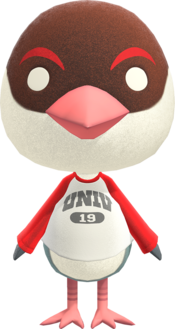 Peck, an Animal Crossing villager.