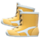 Wrestling Shoes (Yellow) NH Icon.png