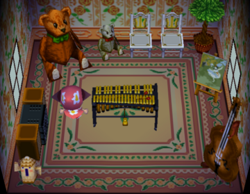 Interior of Anicotti's house in Animal Crossing
