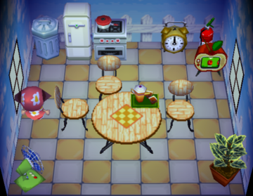 Interior of Betty's house in Animal Crossing
