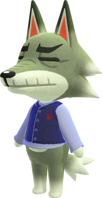 Dobie, an Animal Crossing villager.