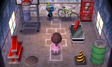 Interior of Bruce's house in Animal Crossing: New Leaf