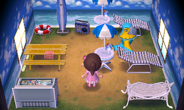 Interior of Keaton's house in Animal Crossing: New Leaf