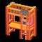 Loft Bed with Desk (Orange - Black) NH Icon.png