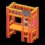 Loft Bed with Desk (Orange - Black)