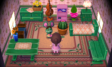 Interior of Anicotti's house in Animal Crossing: New Leaf