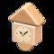 Wooden-Block Wall Clock (Natural) NH Icon.png