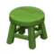 Wooden Stool (Green - None) NH Icon.png