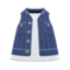 Denim Vest (Navy Blue) NH Icon.png