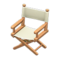 Director's Chair (Light Brown - Natural White) NH Icon.png