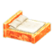 Frozen Bed (Ice Orange - White) NH Icon.png