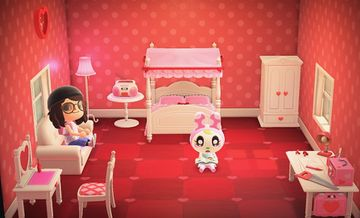 Interior of Chrissy's house in Animal Crossing: New Horizons