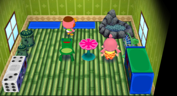 Interior of Freckles's house in Animal Crossing: City Folk